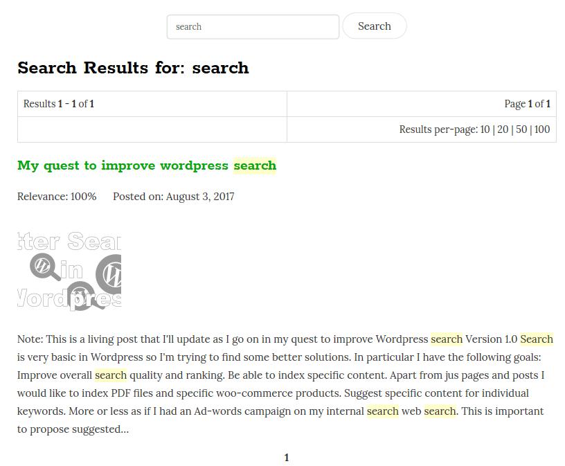 Better Search Wordpress Plugin Options - 5